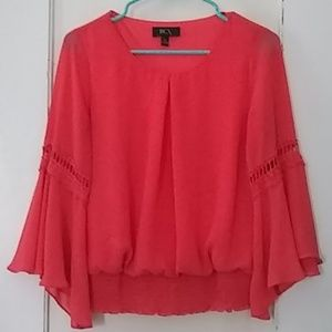 Coral, Bell Sleeved Blouse